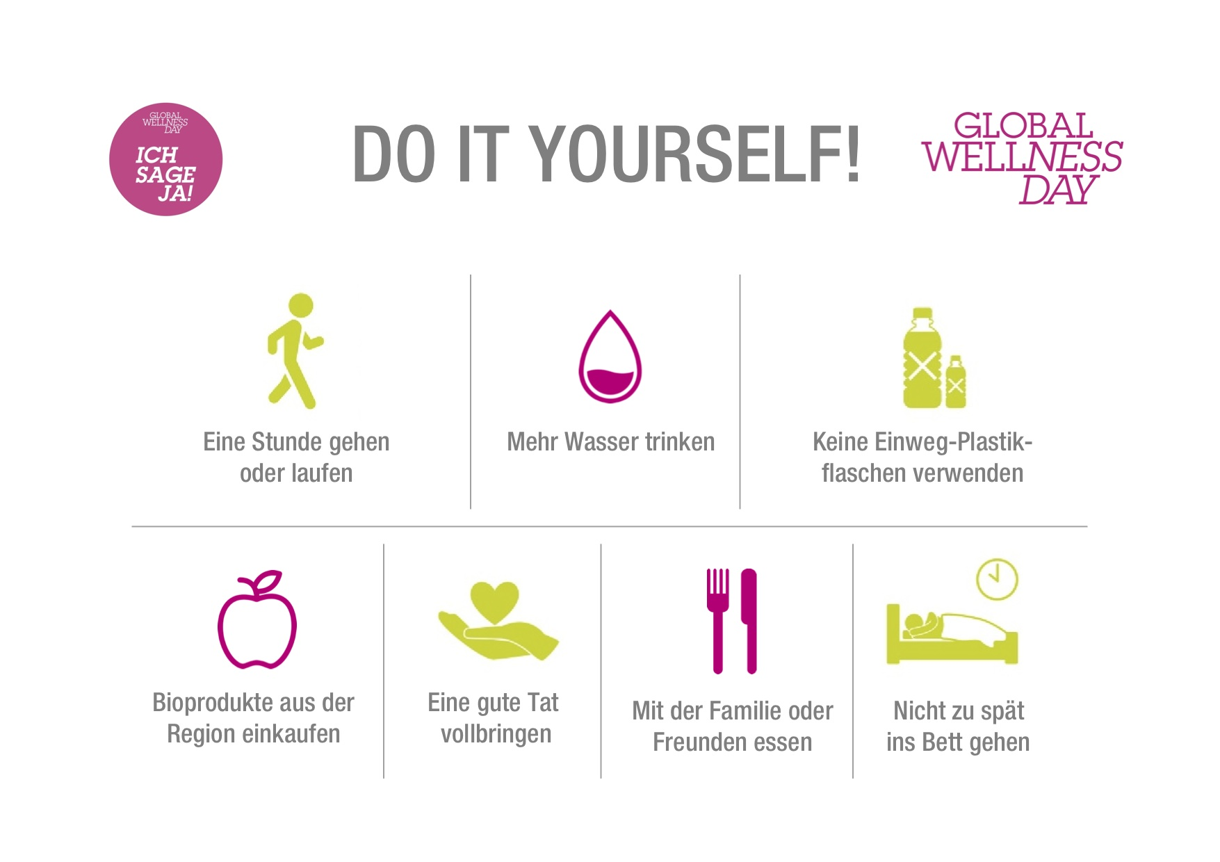 Global Wellness Day Do it yourself Chart