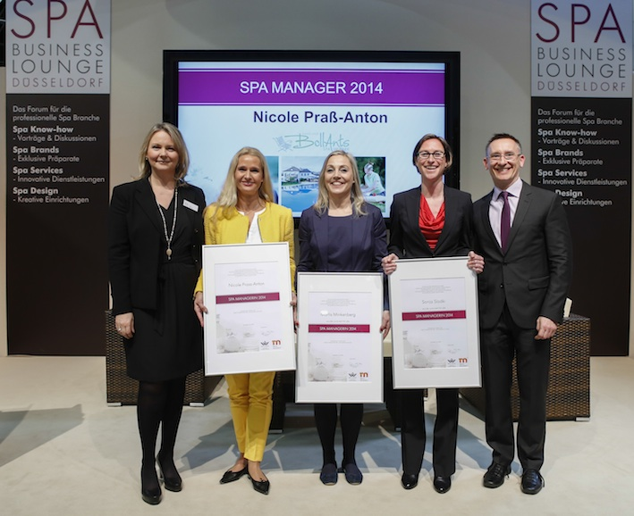 Top 3 Spa Manager des Jahres 2014