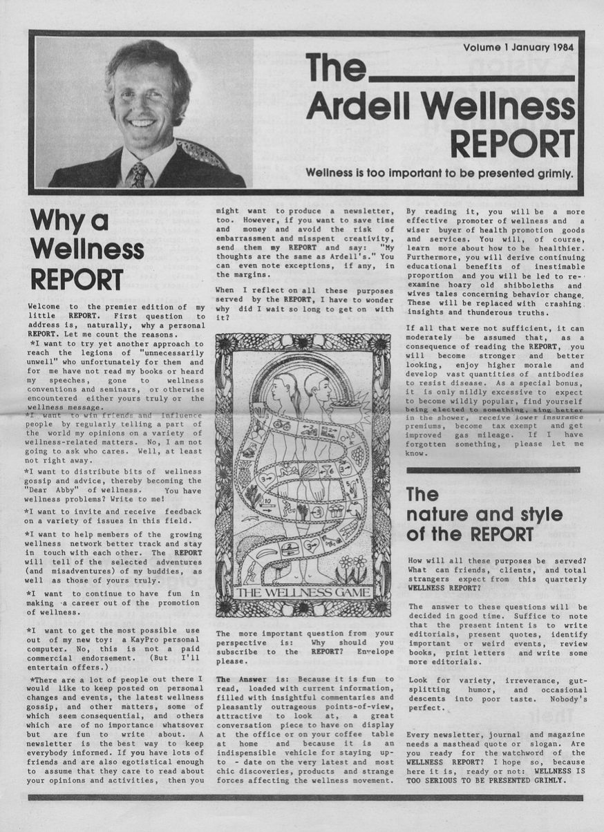 Ardell Wellness Report 1984